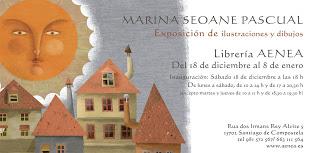 Exposición de ilustraciones en la librería AENEA