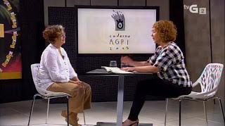 Entrevista en la televisión gallega con motivo de la presentación del Cuaderno AGPI