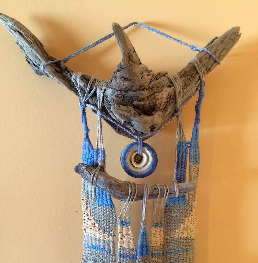 tapiz azul detalle raiz