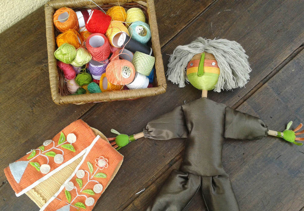 marioneta hilo verde